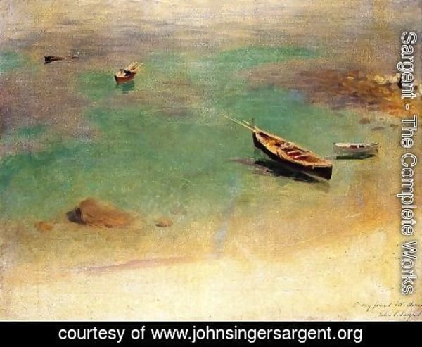 Sargent - A Boat in the Waters off Capri