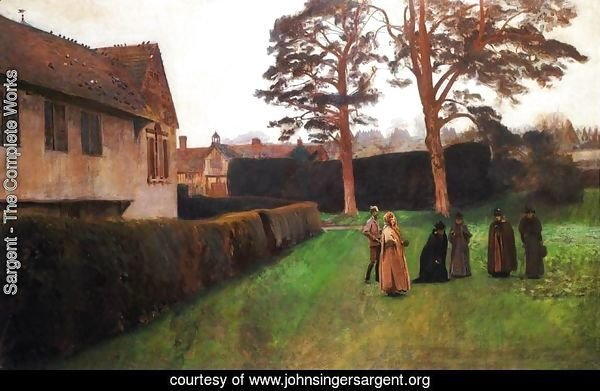 A Game of Bowls, Ightham Mote, Kent