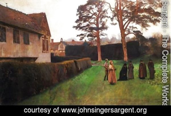 Sargent - A Game of Bowls, Ightham Mote, Kent
