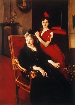 Sargent - Mrs. Edward Burckhardt and her Daughter Louise