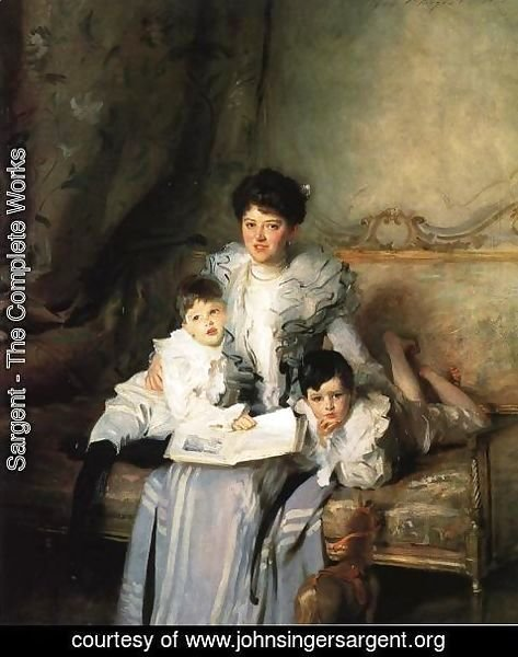 Sargent - Mrs. Arthur Knowles and her Two Sons