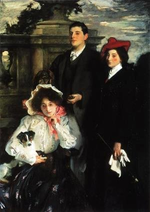 Sargent - Hylda, Almina and Conway, Children of Asher Wertheimer