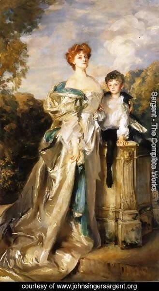 Sargent - The Countess of Warwick and Her Son