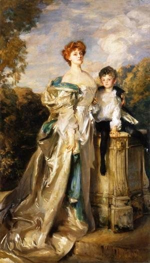 The Countess of Warwick and Her Son