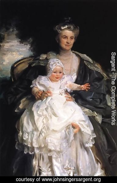 Sargent - Mrs. Henry Phipps and Her Granson Winston