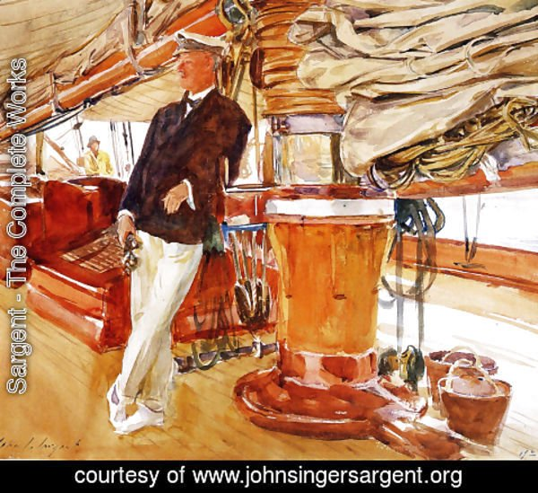 Sargent - On the Deck of the Yacht Constellation