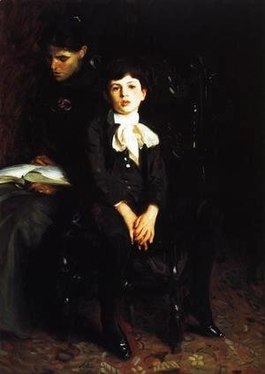 Sargent - Homer Saint-Gaudens and His Mother