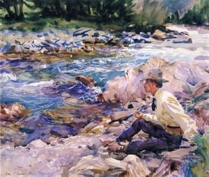 Sargent - Man Seated by a Stream