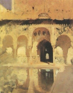 Sargent - Court of Myrtles in the Alhambra