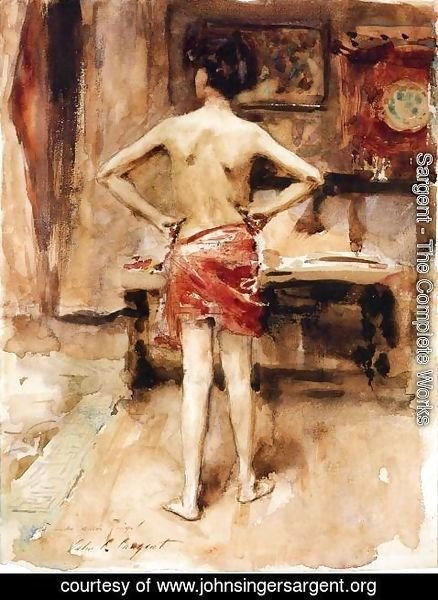 Sargent - The Model, Interior with Standing Figure