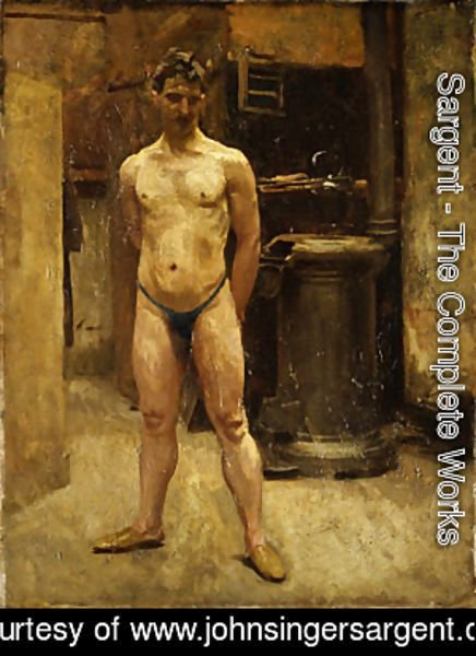 Sargent - A Male Model Standing before a Stove