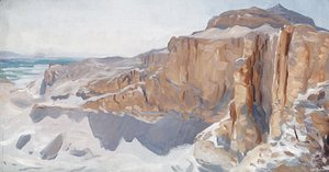 Sargent - Cliffs at Deir el Bahri Egypt
