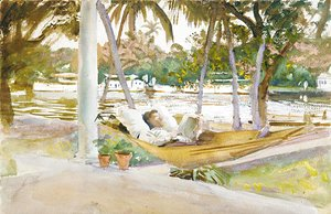 Sargent - Figure in Hammock Florid 1917