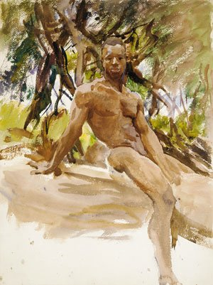 Sargent - Man and Trees Florida 1917