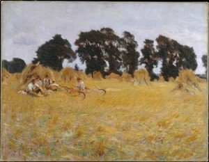 Sargent - Reapers Resting in a Wheat Field 1885