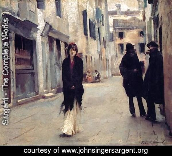 Sargent - Street in Venice 1882