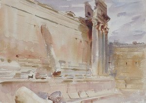 Sargent - Temple of Bacchus Baalbek 1906