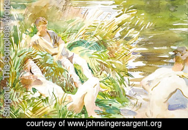 Sargent - Tommies Bathing 1918 1