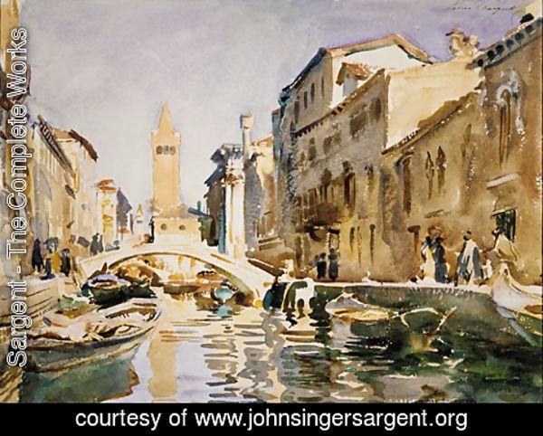 Sargent - Venetian Canal 1913