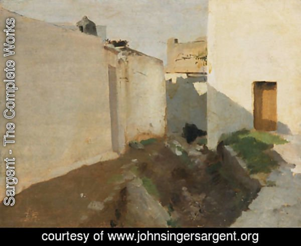 Sargent - White Walls in Sunlight Morocco
