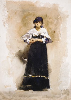 Sargent - Young Woman with a Black Skirt Early 1880s