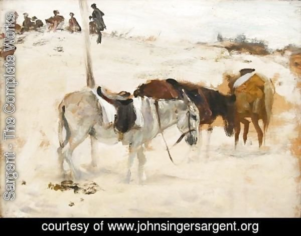 Sargent - Donkeys in a Desert