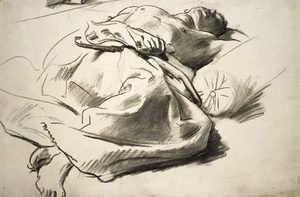 Sargent - Recumbent draped figure
