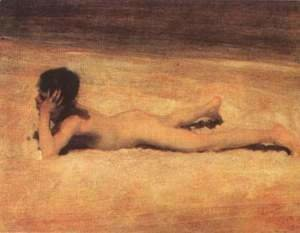 Sargent - Naked boy on the beach