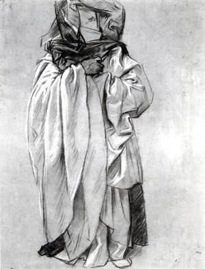 Sargent - Study of Ezekiel for Frieze of the Prophets