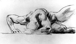 Sargent - Study of a figure for Hell
