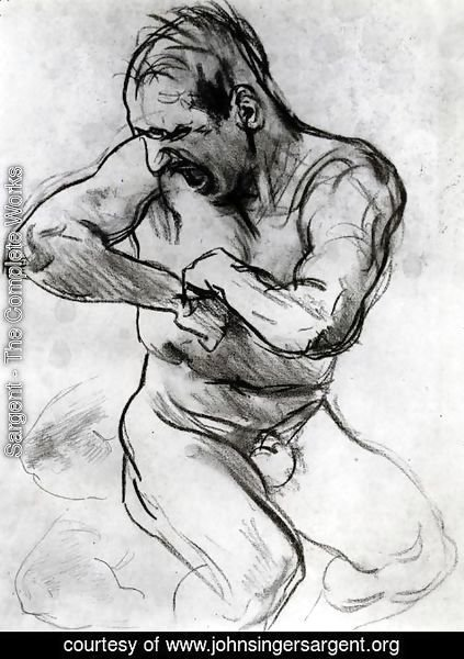 Sargent - Man Screaming (also known as Study for Hell)