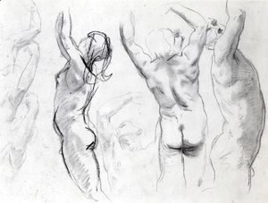 Sargent - Studies of a Nude Youth