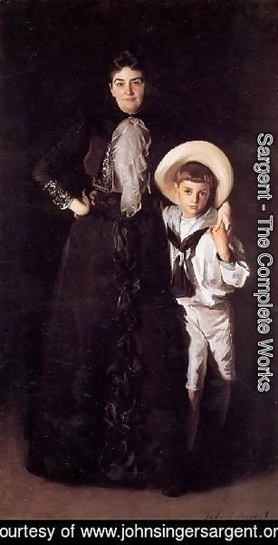 Sargent - Mrs  Edward L  Davis And Her Son Livingston