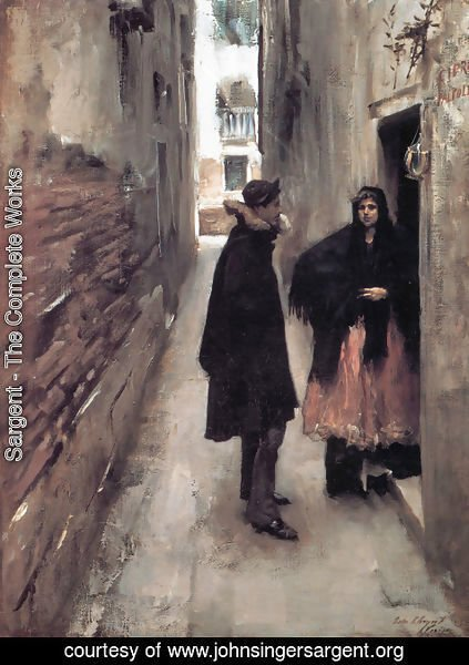 Sargent - Street In Venice