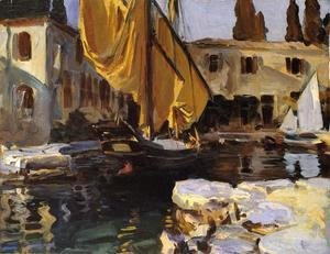 Sargent - Boat With The Golden Sail  San Vigilio