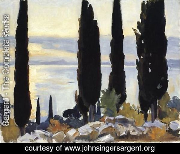 Sargent - Cypress Trees At San Vigilio