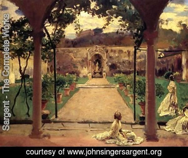 Sargent - At Torre Galli  Ladies In A Garden
