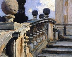 Sargent - The Steps Of The Church Of S  S  Domenico E Siste In Rome
