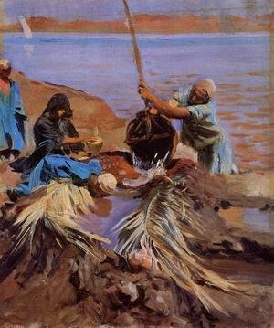 Sargent - Egyptians Raising Water From The Nile