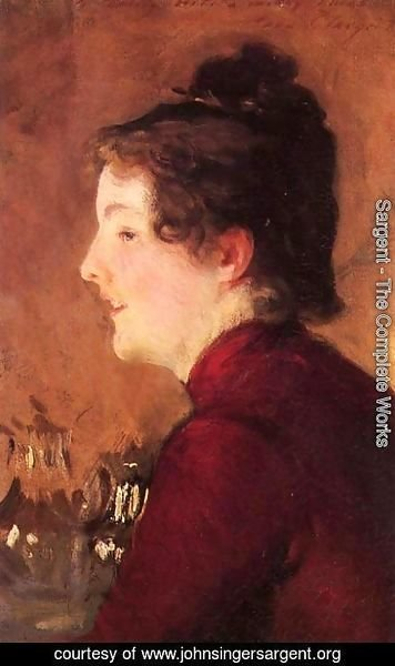 Sargent - A Portrait Of Violet