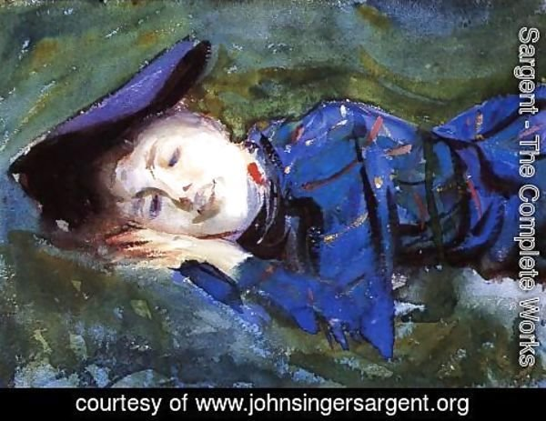 Sargent - Violet Resting On The Grass