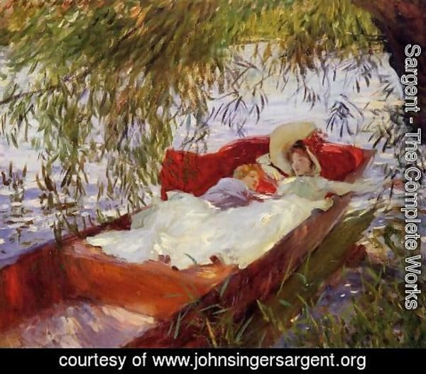 Sargent - Two Women Asleep In A Punt Under The Willows