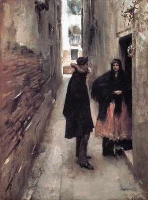 Sargent - A Street In Venice