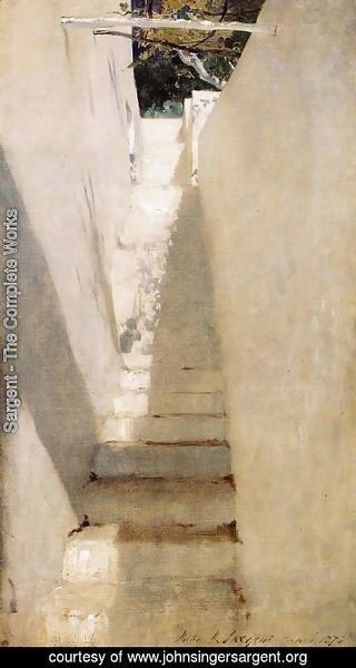 Sargent - Staircase In Capri