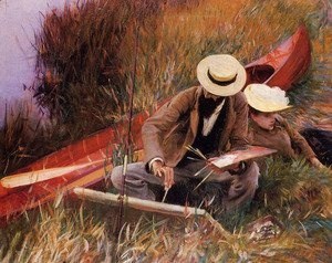 Sargent - Paul Helleu Sketching With His Wife