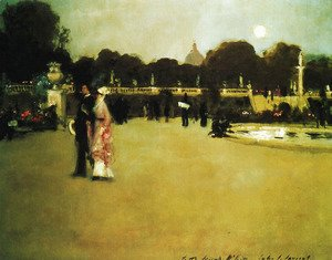 Sargent - Luxembourg Gardens at Twilight